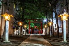 Entrata del santuario di Hanazono Immagini Stock Libere da Diritti