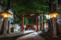 Entrata del santuario di Hanazono Fotografia Stock