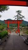 Entrata del santuario di Taikodani Inari in Tsuwano Immagini Stock Libere da Diritti