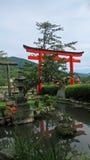 Entrata del santuario di Taikodani Inari in Tsuwano Immagine Stock