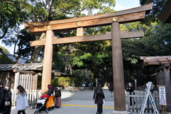 Entrata del santuario di Yoyogi Immagine Stock