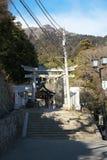 Entrata del santuario Tsukuba-san Immagine Stock Libera da Diritti