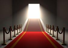 Entrata del tappeto rosso royalty illustrazione gratis