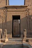 Entrata del tempiale di Philae Fotografie Stock Libere da Diritti