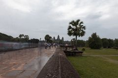 Entrata del tempio di Angkor Wat immagine stock libera da diritti