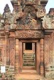 Entrata 1 del tempio di Banteay Srei Immagine Stock