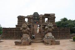 Entrata del tempio di Sun di Konark Fotografie Stock