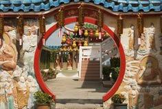 Entrata del tempio, Penang, Malesia Fotografie Stock