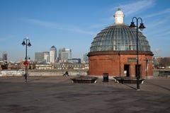 Entrata del traforo di Greenwich Fotografie Stock Libere da Diritti