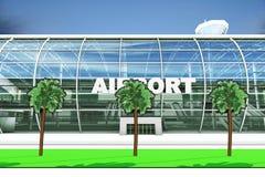 Entrata dell'aeroporto Fotografia Stock Libera da Diritti