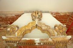 Entrata dell'arco le tre aquile dalla testa doppio Fotografia Stock