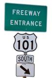 Entrata dell'autostrada senza pedaggio Fotografie Stock Libere da Diritti