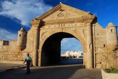 Entrata dell'ingresso di Bab El Marsa Essaouira, Marocco Fotografia Stock