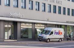 Entrata dell'ufficio di Sotheby a Zurigo Immagine Stock
