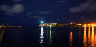 Entrata della baia di Avana e Immagine Stock