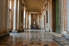 Entrata della basilica del San Giovanni a Roma Fotografia Stock