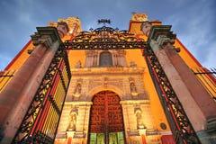 Entrata della basilica della nostra signora di Guanajuato fotografia stock