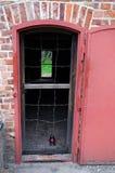 Entrata della camera a gas in Stutthof Fotografia Stock Libera da Diritti