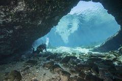 Entrata della caverna di Blue Springs Fotografia Stock