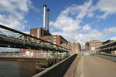Entrata della centrale elettrica Fotografie Stock Libere da Diritti
