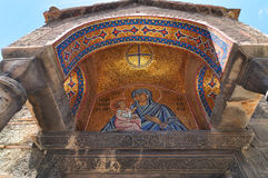 Entrata della chiesa di Panaghia Kapnikarea Immagini Stock Libere da Diritti
