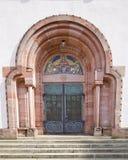 Entrata della chiesa di trinità santa (1908) in Offenburg, Germania Fotografia Stock