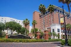 Entrata della città universitaria dell'università di Tampa a Tampa Immagini Stock Libere da Diritti