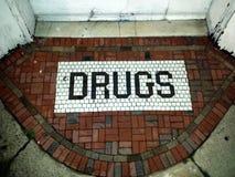 Entrata della droga Fotografia Stock Libera da Diritti