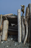 Entrata della fortificazione della spiaggia fotografia stock libera da diritti
