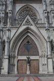 Entrata della porta principale della basilica del voto nazionale Fotografia Stock Libera da Diritti