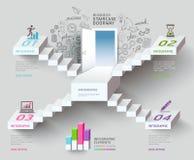 Entrata della scala di affari. Immagine Stock