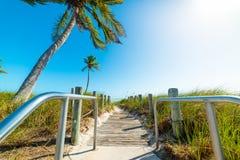 Entrata della spiaggia di Smathers in Key West fotografia stock