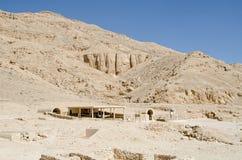 Entrata della tomba di Nefertari, valle del Queens Fotografia Stock