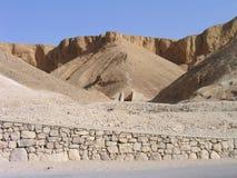 Entrata della tomba. Valle dei re, Luxor, Egitto immagini stock libere da diritti