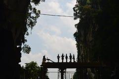 Entrata delle caverne di Batu fotografia stock