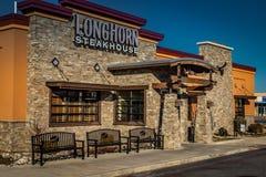Entrata dello steakhouse della mucca texana Fotografia Stock Libera da Diritti