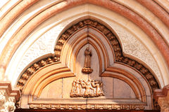 Entrata (destra) di San Francesco, Assissi, Italia Fotografia Stock