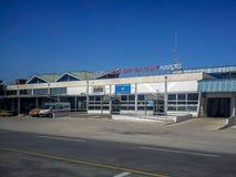 Entrata di Alexander The Great International Airport Fotografie Stock