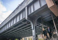 Entrata di alta linea a New York, Manhattan Fotografia Stock
