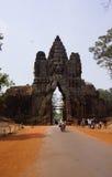 Entrata di Angkor Wat Immagini Stock