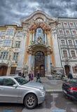 Entrata di Asamkirche Fotografia Stock
