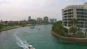 Entrata di canottaggio in Boca Raton video d archivio