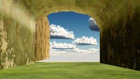 Entrata di cielo Fotografia Stock