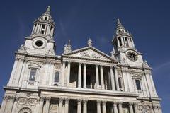 Entrata di fronte ad ovest alla cattedrale dei pauls della st Immagini Stock Libere da Diritti