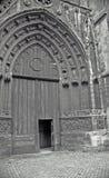 Entrata di fronte del Notre Dame immagine stock