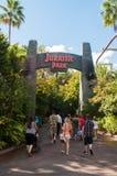 Entrata di Jurassic Park Fotografia Stock Libera da Diritti