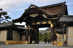 Entrata di Karamon a Nijo-jo (castello di Nijo) Fotografia Stock Libera da Diritti