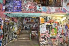 ENTRATA DI KUNSTAHAUS TACHELES A BERLINO Fotografie Stock Libere da Diritti