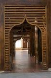 Entrata di legno, stile arabo Fotografia Stock Libera da Diritti