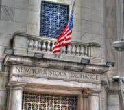 Entrata di New York Stock Exchange fotografie stock libere da diritti